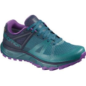 Salomon Trailster GTX Shoes Women Deep Lagoon/Navy Blazer/Purple Magic